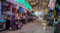 A view of the main mall at Nakha Silk Market