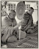 Monks preside over the ceremony