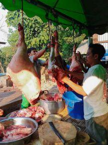 Fresh pork too. The older generation love their raw pork!